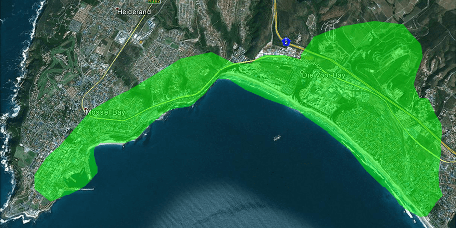 WiFi Coverage Map Mossel Bay
